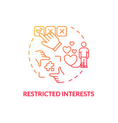 Restricted interests concept icon vector