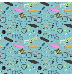 Retro bike pattern background vector image
