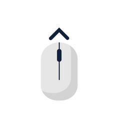 scroll down up computer mouse icon symbol flat vector image