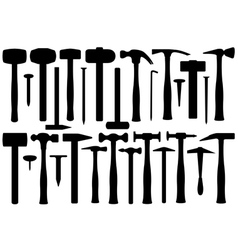Set Of Different Hammers vector image