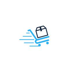 shop box logo icon design vector image