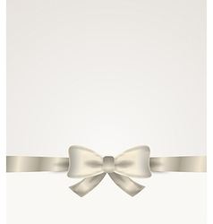 silver ribbon with bow vector image