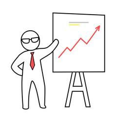 Smart man presenting plan vector