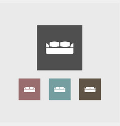 sofa icon simple vector image