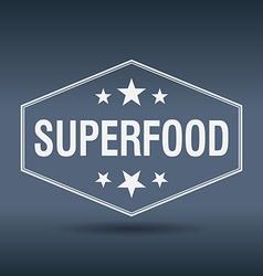 Superfood hexagonal white vintage retro style vector