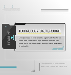 Technology Background Black Template Modern vector image vector image