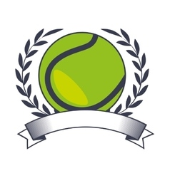 tennis ball sport icon vector image