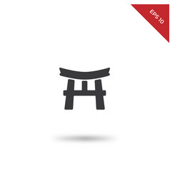 torii gate icon vector image