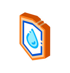 Waterproof material guard isometric icon vector