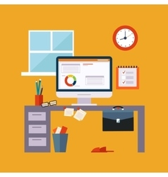 Working at home items set vector