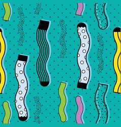 cute colorful background socks pattern vector image vector image