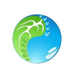 eco footprint in tai chi form vector image vector image