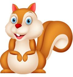 happy squirrel with simple gradient vector image