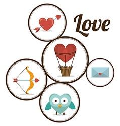 Love design vector image vector image