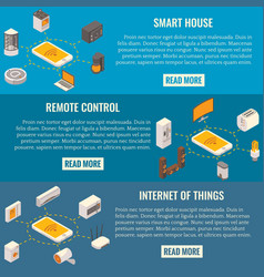 set of smart house concept isometric vector image