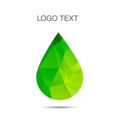 Triangle logo of drop ecology logo vector image vector image