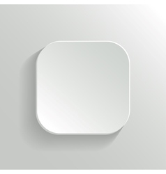 White Blank Button - App Icon Template vector image