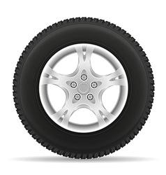 car wheel 02 vector image vector image