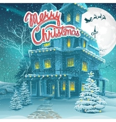 cartoon Merry Christmas vector image vector image