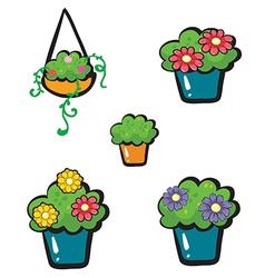 Flowerpots vector image vector image
