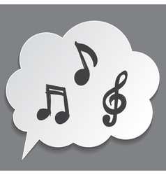 musical notes with speech bubble vector image vector image
