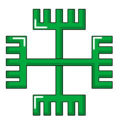 pagan ancient symbol icon cartoon style vector image