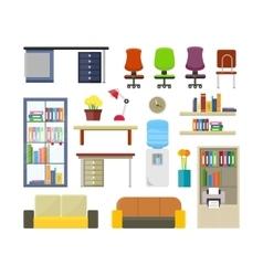 Set of Modern Office Furniture vector image vector image
