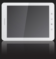 white tablet PC computer with blank screen horizon vector image vector image