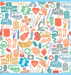 background pattern with medical icons vector image