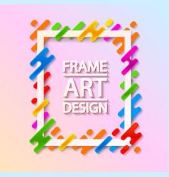 color frame art design beautiful frame vector image