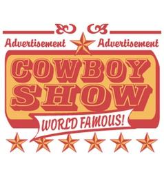 Cowboy show logo vector image