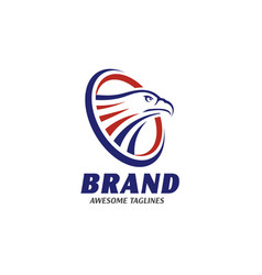 eagle heads with circle logo vector image