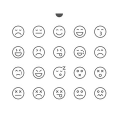 emotions ui pixel perfect well-crafted thin vector image