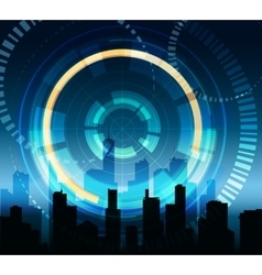 Futuristic City Background vector image vector image