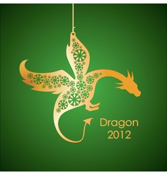 gold dragon vector image vector image