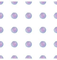 Watercolour polka dot seamless pattern vector image vector image