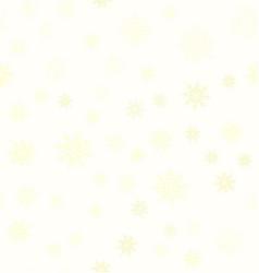 yellow snowflake pattern seamless vector image