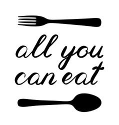 All you can eat handwritten vector
