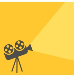 Cinema projector with ray of light Flat design vector image vector image