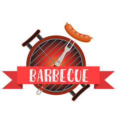 meal cooked on the grill tools for grilling vector image vector image