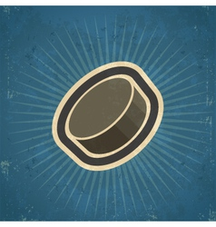 Retro Hockey Puck vector image vector image