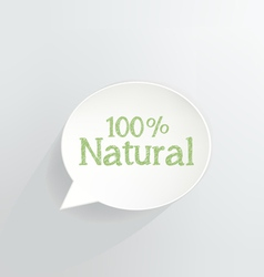 100 Percent Natural vector image