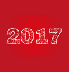 2017 happy new year on red background stock - vector
