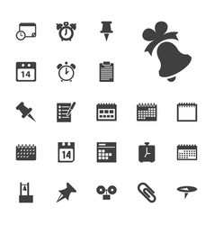 22 reminder icons vector