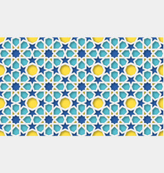 3d arabic background islamic geometric pattern vector image