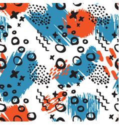 Abstract art seamless pattern vector