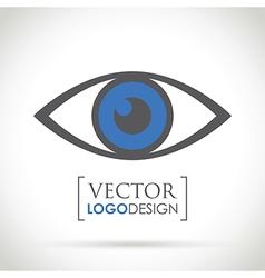 Abstract eye icon blue vector