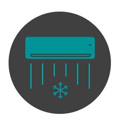 Air conditioner glyph color icon vector