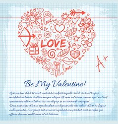 Amorous lovely background vector