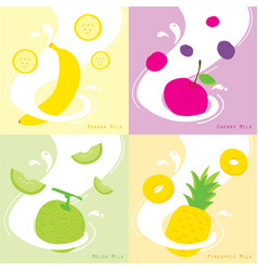 apple art background design drink eat flavor vector image